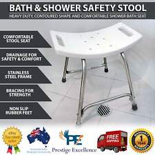 Heavy Duty Shower & Bath Seats Non-slip Stainless Steel Frame Safety Stool Seat