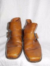 Connolly Brown ANKLE Buckle Slip On Boots Men 8 Used