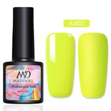 8ml MAD DOLL Neon UV Gel Nail Polish Colorful Soak Off Nail Art UV Gel Varnish