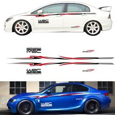 2X Car Vinyl Graphic Body sport Color stitching double stripe DIY Decals Sticker