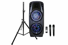 EMB PKL5000 7 Hours Rechargeable Speaker Bluetooth/SD/MMC/USB2x + Speaker Stand