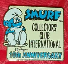 PIN'S PIN SMURF COLLECTORS CLUB INTERNATIONAL 10TH ANNIVERSAIRE SCHTROUMPF PEYO