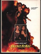 JAMES BOND LICENCE TO KILL U.S. SCREENING PROGRAM 4 PAGES 1989 TIMOTHY DALTON