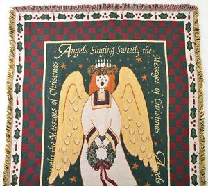 Goodwin Weavers Woven Throw Blanket Angels Singing Christmas Ingleman Afghan USA
