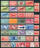 USAstamps Unused FVF US Airmail + BOB Starter Collection All OG MNH