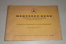 Teilekatalog / Parts List Mercedes Benz Motor / Engine OM 352 Baumuster 352.900