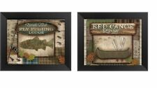 💗 Fish Canoe Pictures 5x7 Rustic Lodge Log Cabin Wall Hangings Home Decor