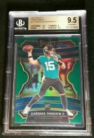 BGS 9.5 POP 2 GARDNER MINSHEW II RC /5 SSP ROOKIE PRIZM GREEN 2019 Panini Select