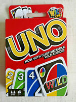 Mattel Games - Uno - Classic Family Card Game - Now with Customisable Wild Cards