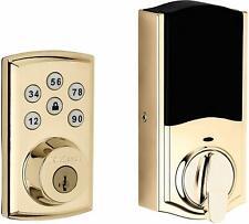 Kwikset Smartcode 888 Z-Wave сенсорная панель засов дверной ключ блокировки полированная латунь золото