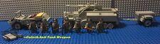 Custom Lego WW2 German Waffen SS SDKfc 251 Half Track, Trailer, Kubelwagen ++++