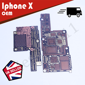 Iphone X Bare SMD Motherboard 2017 Working Replacement CPU and NAND Part