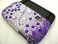 Samsung Galaxy Metrix 4G Crystal BLING Hard Case Phone Cover Purple Silver