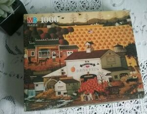 Charles Wysocki Jigsaw Puzzle Americana Pumpkin Hollow 1000 Piece Complete