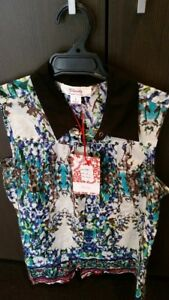 CLARITY CLOTHING (THREADZ)  LADIES BLUE COTTON SHIRT SIZE SMALL RRP $75.00