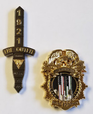 Lot of 2 Coins: NYPD and NJSP 9/11 15th Anniversary NJSP Serialized 050/250
