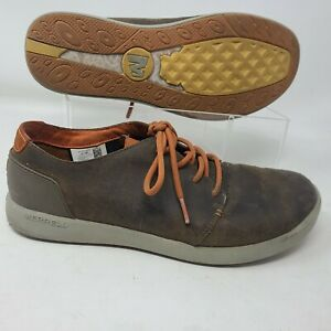 Merrell Freewheel Lace Sneaker Mens 10.5 Brown Leather Sneaker