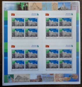 India 2008 Standard Chartered Bank Finance Architecture  stamp sheetlet