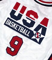 MICHAEL JORDAN Jersey TEAM USA JERSEY White   SEWN  NEW   ANY SIZE