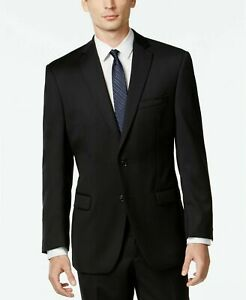$450 Calvin Klein Mitchell Slim Fit Solid Black Suit Jacket ONLY 40L 40 NEW