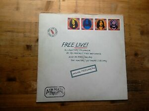Free Live Very Good Vinyl LP Record Album ILPS 9160 Novelty Sleeve