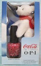 OPI Coca-Cola BEAREST OF THEM ALL ~ Ltd Ed Nail Polish+Bear Holiday Gift Set NIB
