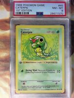 1999 Pokemon 1st Edition Base Set 45/102 CATERPIE Shadowless PSA 8 NM-MT