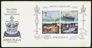 Mayfairstamps Anguilla FDC Queen Elizabeth II Siler Jubilee Combo First Day Cove