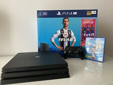 Sony PlayStation 4 Pro 1TB 4K HDR Console - Jet Black + FIFA 19