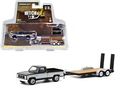 Greenlight 1986 GMC Sierra Classic 2500 Pickup Truck with Flatbed Trailer 32200C