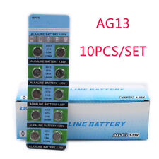 10Pc/Set  AG13 1.55V 357A LR44W Button Cell Coin Battery Electronics Accessories