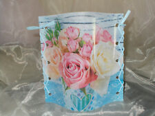 Deko Windlicht Rose Rosen Tischlicht Unikat Geschenkidee