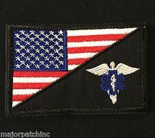EMT EMS MEDIC NURSE ARMY USA FLAG MORALE COLOR VELCRO® BRAND FASTENER PATCH