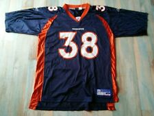 MAILLOT FOOTBALL AMERICAIN REEBOK BRONCOS N°38 ANDERSON TAILLE L/D6 TBE
