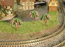 10 rosa blühende Bäume, 45 mm hoch