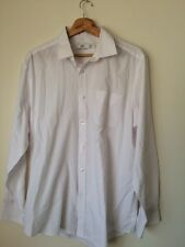 "F&F White Cotton Long Sleeve shirt Size 16.5"" Collar <T3943"
