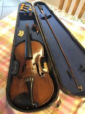 Antique Violin With Bow For Restoration , Estate Clearance