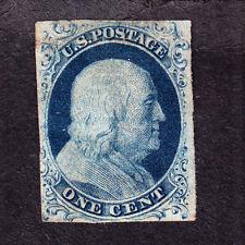 US 7 1c Franklin Mint VF OG H SCV $1000