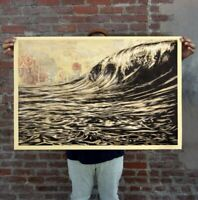 """Obey """"Dark Wave Signed Lithograph by Shepared Fairley"""" Authentic 24 x 36 inches"""