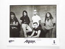 Anthrax 8x10 B&W Photo 1993 Dan Spitz Frankie Bello Scott Ian Charlie Benante