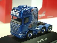 "Herpa Scania R TL 6x2 Zugmaschine ""Max Steffen"" (CH) - 110884 - 1/87"