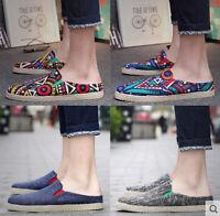 Fashion Summer Sandals Slipper Casual Sneakers canvas Men's Oxfords shoes XSbq