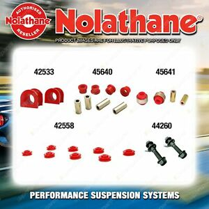 Front Nolathane Suspension Bush Kit for TOYOTA ECHO NCP10 NCP12 4CYL 1999-2005