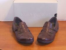 Hush Puppies Ionic Coffee Bean Leather Flats Shoes 10 M