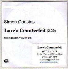 (CH332) Simon Cousins, Love's Counterfeit - 2011 DJ CD