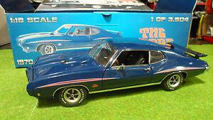 PONTIAC GTO JUDGE bleu 1970 echell 1/18 GMP 8044 voiture miniature de collection