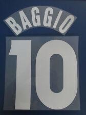 brescia kit BAGGIO bianco flock Nameset maglia calcio umbro
