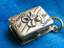 VINTAGE STG SILVER CHARM SWEETS FOT THE SWEET CHOCOLATE BOX