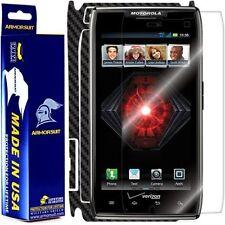 ArmorSuit MilitaryShield Motorola Droid Razr Screen + Black Carbon Fiber Skin!