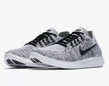 low priced 2db11 d3259 Nike FREE RN FLYKNIT 2017 UK 6 EU 40 Women's Running Black / White OREO